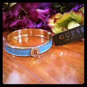 "Guess Light Blue ""G"" Bangle Bracelet"